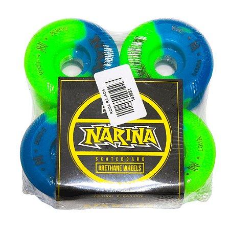 Roda Narina Skate Rajada Verde/Azul - 54mm