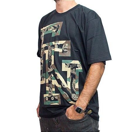 Camiseta Foton Skateboards Preta FTN Camufla