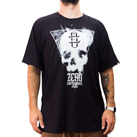 Camiseta Zero Skateboards Preta Lighter Skull