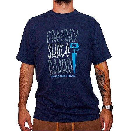 Camiseta Freeday Azul Rolinho Tag