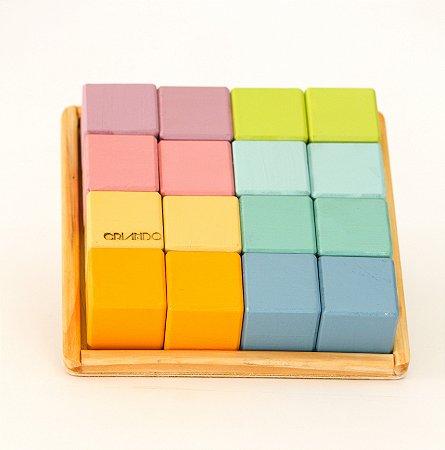 16 cubos - Cor Pastel