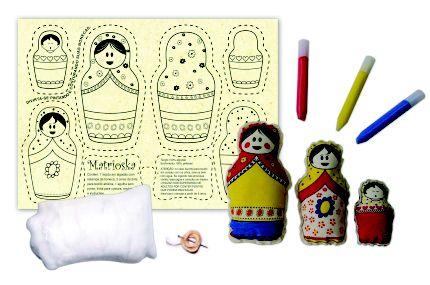 Boneca de pano para pintar - Matrioskas