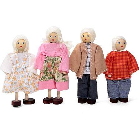 Bonecos de madeira (Kit Família)