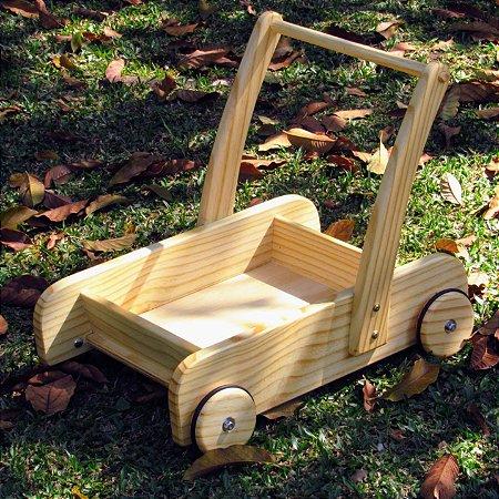 Carrinho andador de madeira