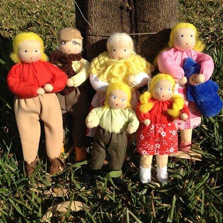 Bonecos de Pano - Família Jailma Branca 15cm