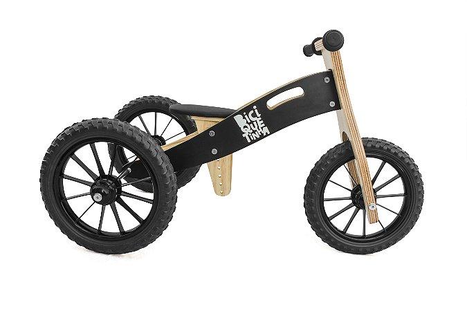 Triciclo 2 em 1 Biciquetinha Lousa (Bicicleta de equilíbrio)