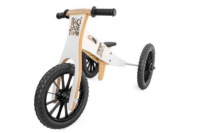Triciclo 2 em 1 Biciquetinha Neve (Bicicleta de equilíbrio)