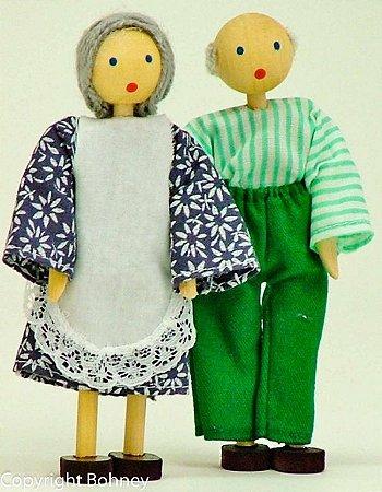 Bonecos de madeira (Kit Avós)