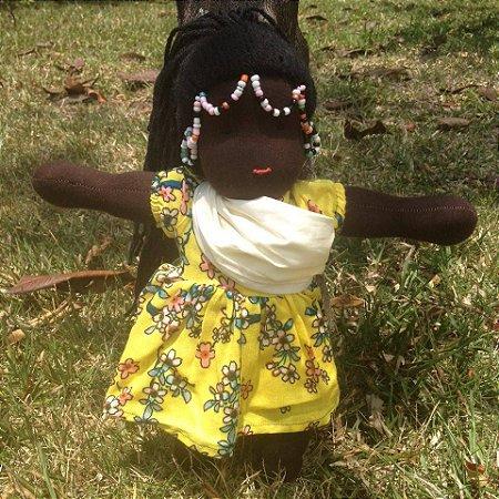 Boneca de pano com bebê - Jade - 32cm