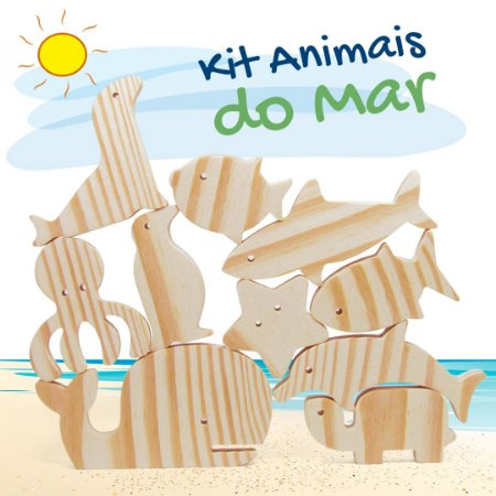 KIT ANIMAIS DO MAR