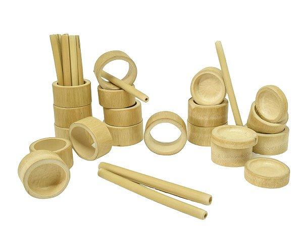 Kit criatividade de bambu