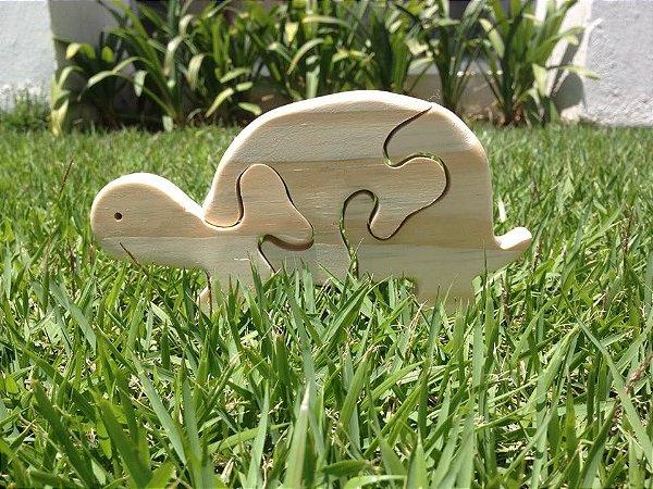 Quebra cabeça de madeira - Tartaruga