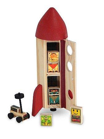 Toy Arte - Foguete de madeira