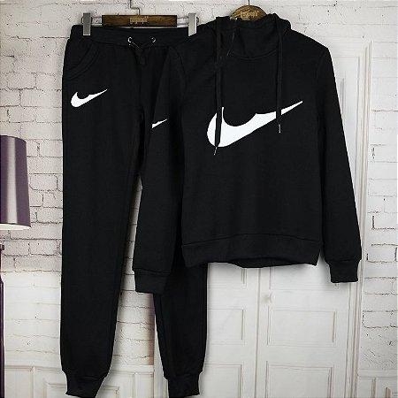 Conjunto de Moletom Feminino - Nike 2.0 (Preto)