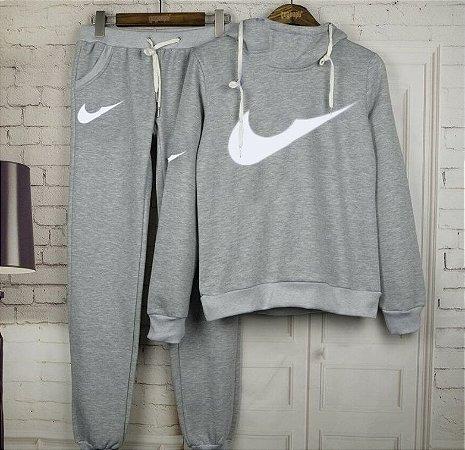 Conjunto de Moletom Feminino - Nike 2.0 (Cinza)