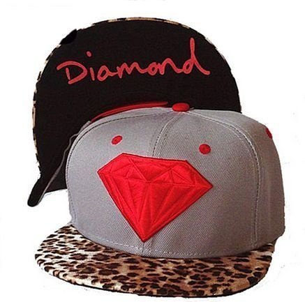 Boné Diamond Supply Leopard