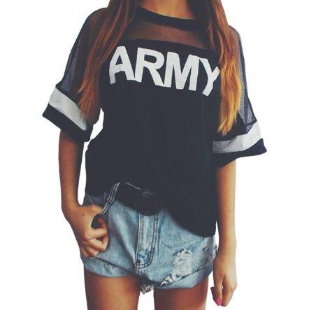 Camiseta - Army Feminina