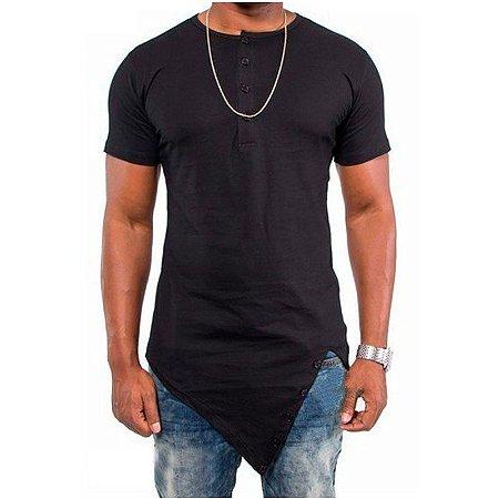 Camiseta LongSize Irregular ( Diversas Cores )
