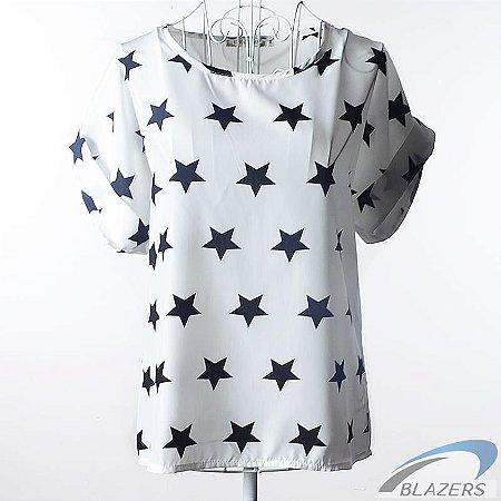 Camiseta Feminina Pattern Stars