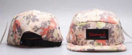 Boné 5 Panel Diamond - Flower Greener