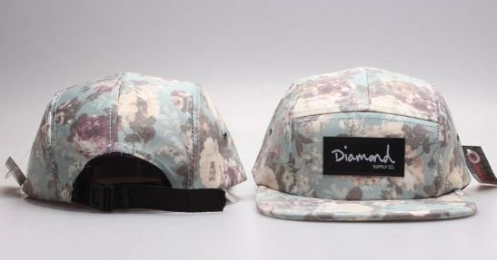 Boné 5 Panel Diamond Supply CO - Flower Outono