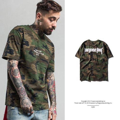 Camiseta Masculina Camuflada - Purpose TOUR