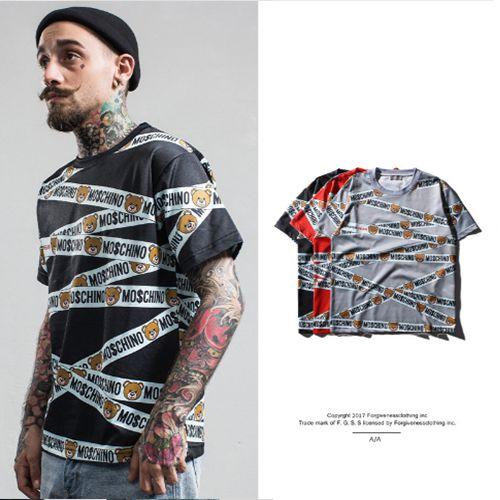 Camiseta Masculina - MO$CHINO RIBBON