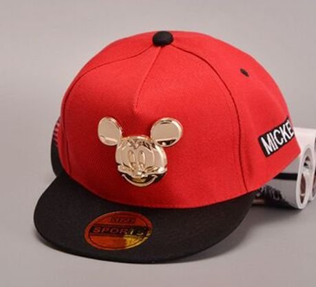 Boné Snapback - RED Mickey GOLD