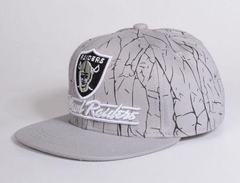 Boné Snapback Oakland Raiders - Cinza