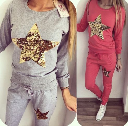 Conjunto de Moletom - Gold star