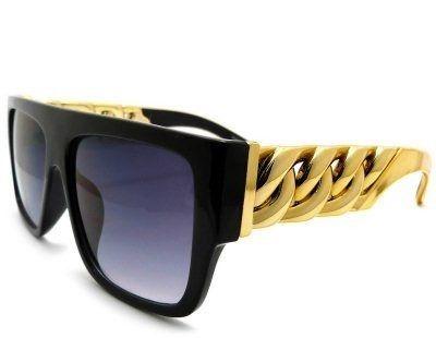 Óculos KIM - Dourado com Preto