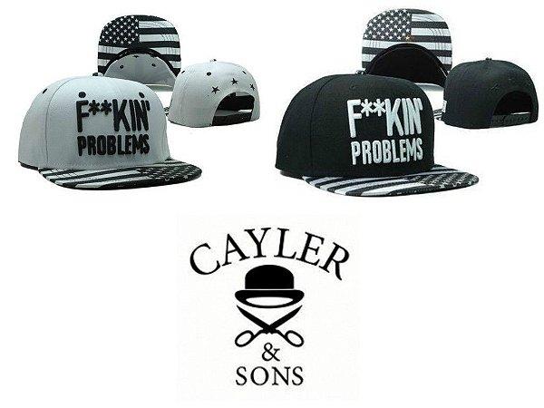 Bonés - F**KIN PROBLEMS ( Black And White ) - CAYLER & SONS