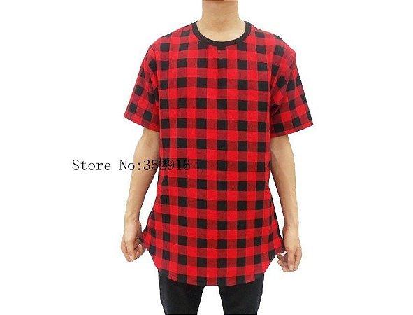 Camisa - Tyga Hip Hop Xadrez ( Vermelha e Cinza )