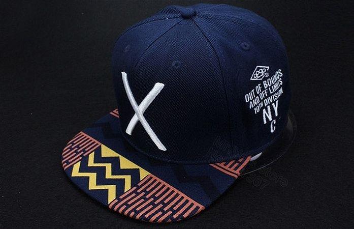 Boné X - Azul marinho