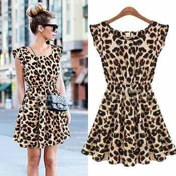 Vestido - Leopard ( PRONTA ENTREGA )