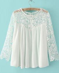 Blusa Feminina em Renda - Branca