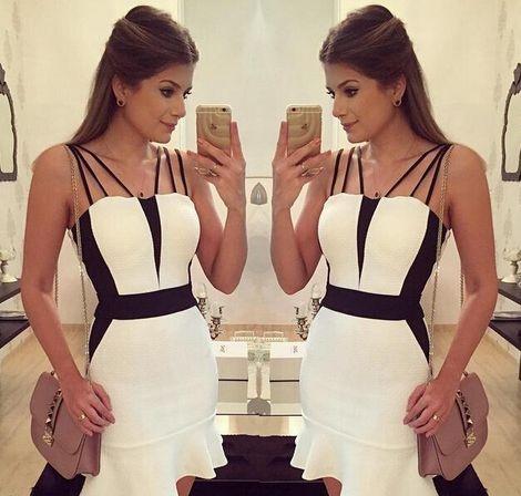 Vestido Feminino - WHITE DETAILS BLK