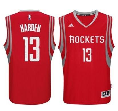 Regata - Houston ROCKETS NBA Adidas Basquete Vermelha