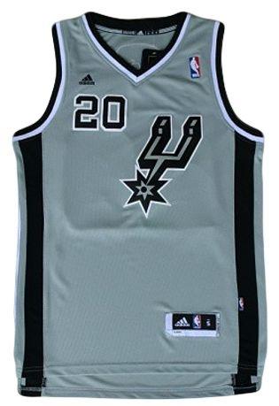Regata - San Antonio SPURS NBA Adidas Basquete CINZA