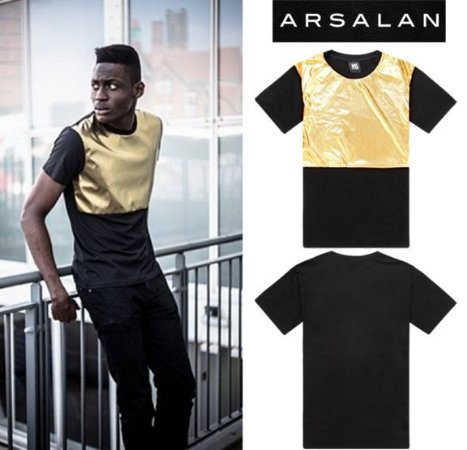 Camiseta Preto & Dourado