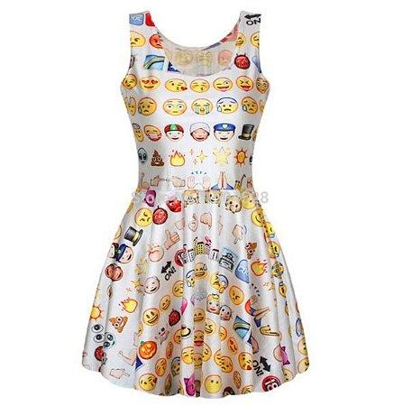 Vestido - Emoji Personalizado ( TAMANHO ÚNICO / DIVERSAS CORES )