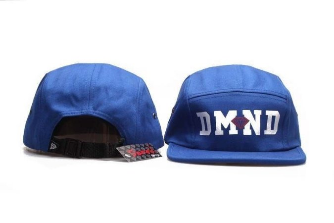 Boné 5 Panel Diamond Supply - Azul DMND