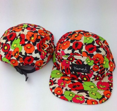 Boné Diamond Flower #3 - 5 PANEL
