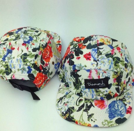 Boné Diamond Flower #4 - 5 PANEL