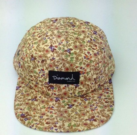 Boné Diamond Floral Simple #1 - 5 PANEL