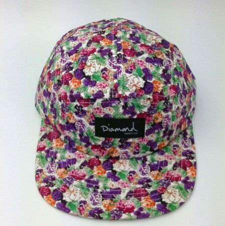 Boné Diamond Supply FLORAL RUDE - 5 PANEL