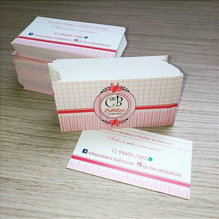 Cartão de Visita - Couché 250 gr - Verniz Total Frente