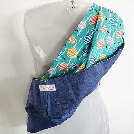 Pouch M azul jeans + balões