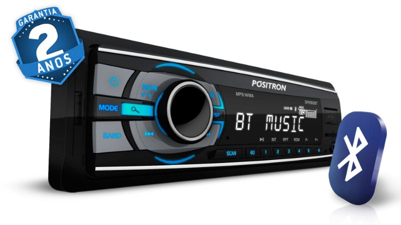 MP3 Player Automotivo Pósitron SP2310 Bluetooth