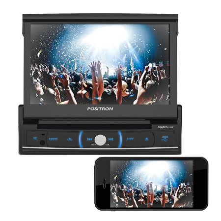 DVD Player Retrátil 7 Pósitron SP6520 LINK Espelhamento